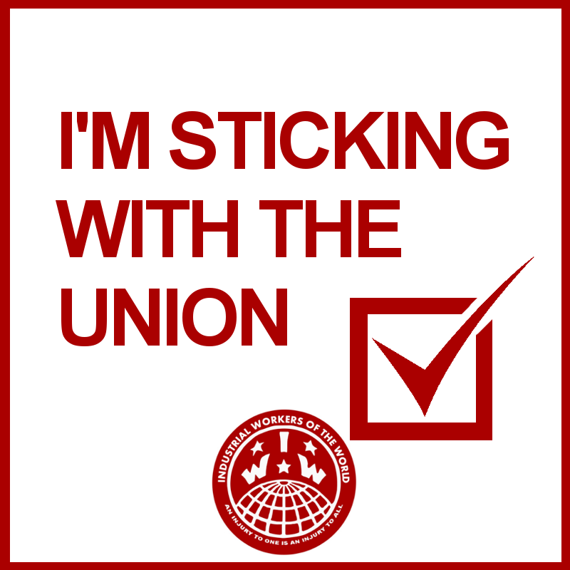 i'm sticking with the union